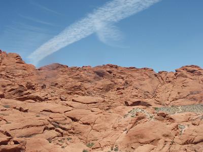 Cloud Streak Above the Rocks