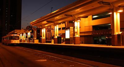 Rail Station at Night