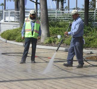 Power Washing the Boardwalk