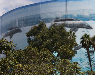 Mural Painted on Convention Center's Arena