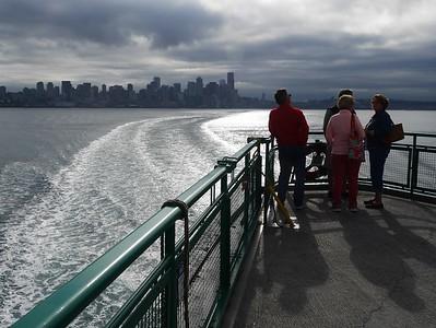 Leaving Seattle on the Bainbridge Ferry
