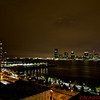 View of New York towards Hoboken, NJ from the roof deck of Agnes Fischer's New York flat
