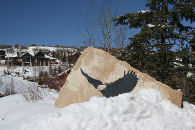 Eagle Painted on Rock