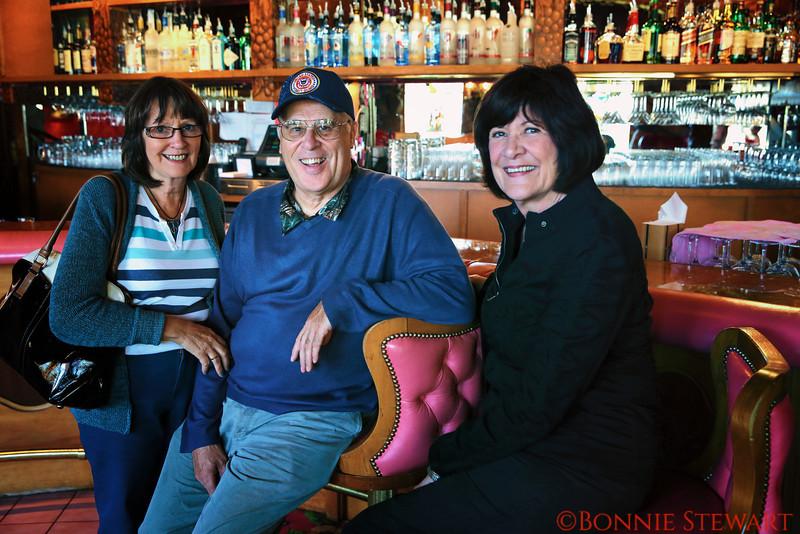 Jan & Bill Arnold and Marilyn Weaver, Madonna Inn