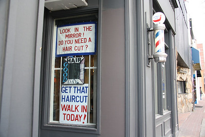 Perry's Barber Shop Sign