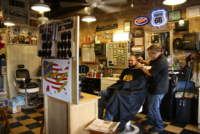 Perry's Barber Shop Interior