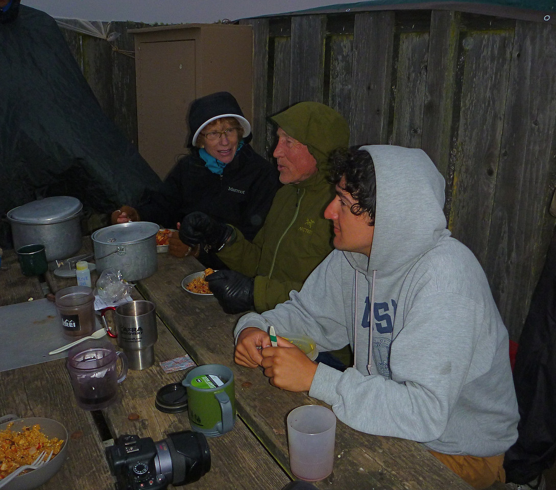 Dinner at the campground