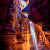 Sand beams of light in Upper Antelope Canyon