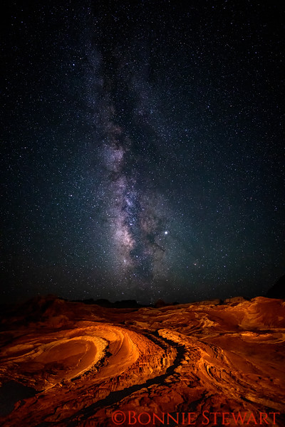 Milky Way over the Dragon's Back in White Pocket