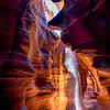 Light Streams of sand in Upper Antelope Canyon
