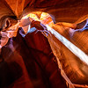 More light streams in Upper Antelope Canyon