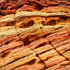 Close-up of the colorful rock formations in South Coyote Buttes