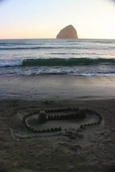 Oregon Coast- Cape Kiwanda, Sand Castle