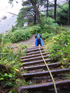 Olympic Coast Backpack. Ladders are used to get around some headlands.