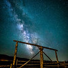 Milky Way over the Triangle X Dude Ranch Gate