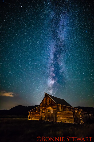 Milky Way over the Thomas Moulton Barn