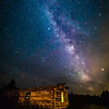 Milky Way over the Shane Cabin
