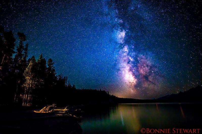 Milky Way over Signal Mountain Marina