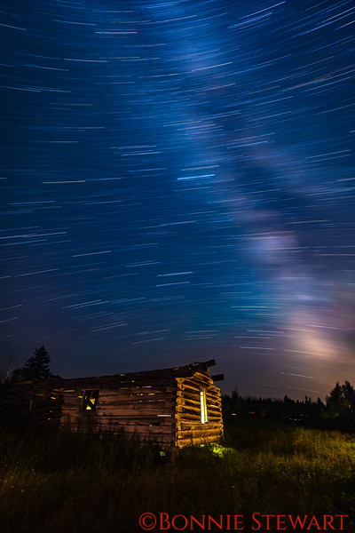 Star Trails over the Shane Cabin