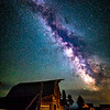 Milky Way over the John Moulton Cabin