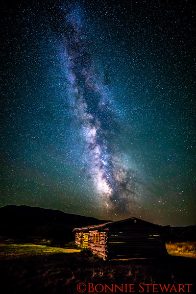 Milky Way over the Cunningham Cabin