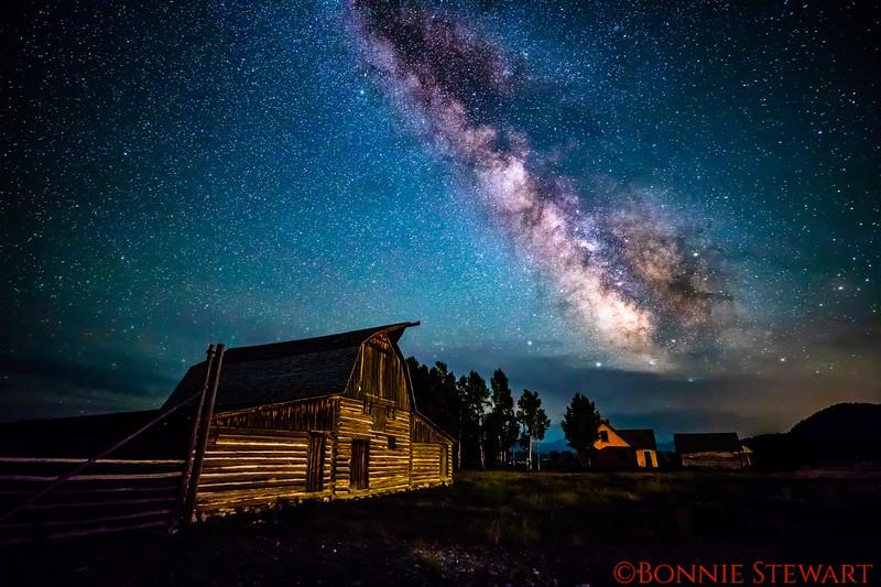 Milky Way over the John Moulton Barn