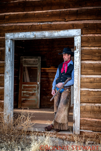 Wrangler Portrait - Mel in the door