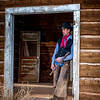 Wrangler Portrait - Mel in the door
