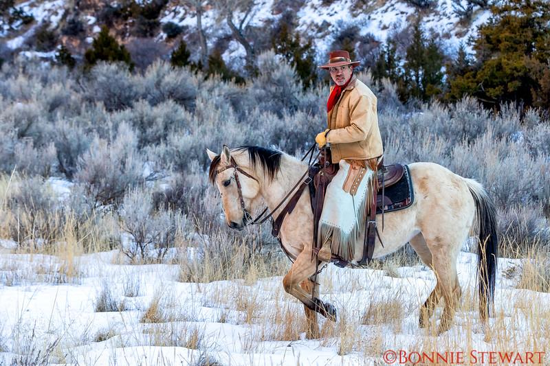 Wrangler Tom after his canyon run