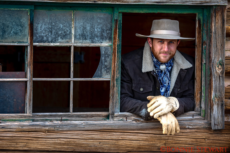 Portrait through a broken window - Lance