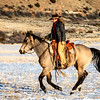 Wrangler Rebecca riding