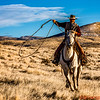 Tom Bercher, the head Wrangler at The Hideout Ranch demonstrating his lasso skills