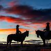 Sun setting behind Lauren and Marijn
