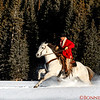 Tom Bercher riding in the mountain snow
