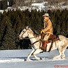 Augustus riding in the Mountain snow