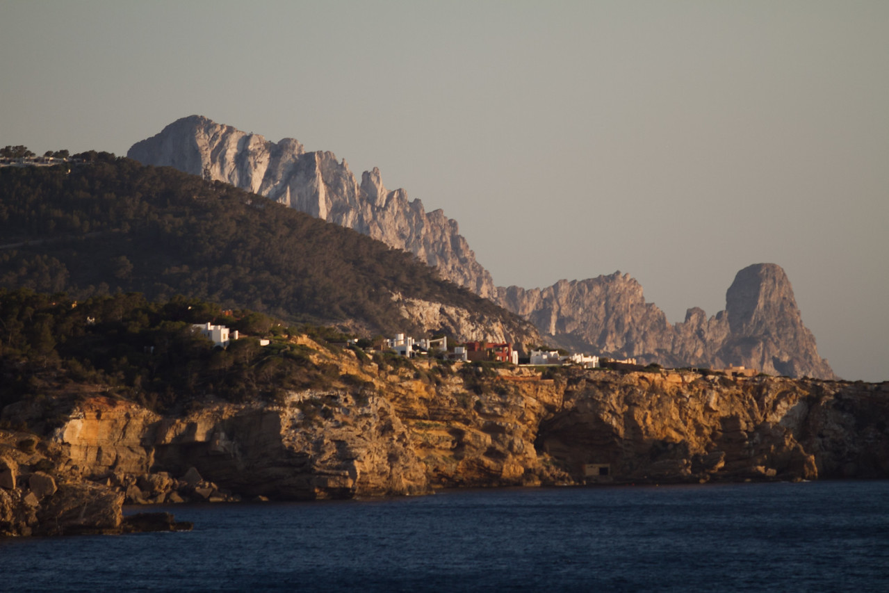 Es Vedrá Island in background. I was very drawn to this rock formation. Ibiza Island