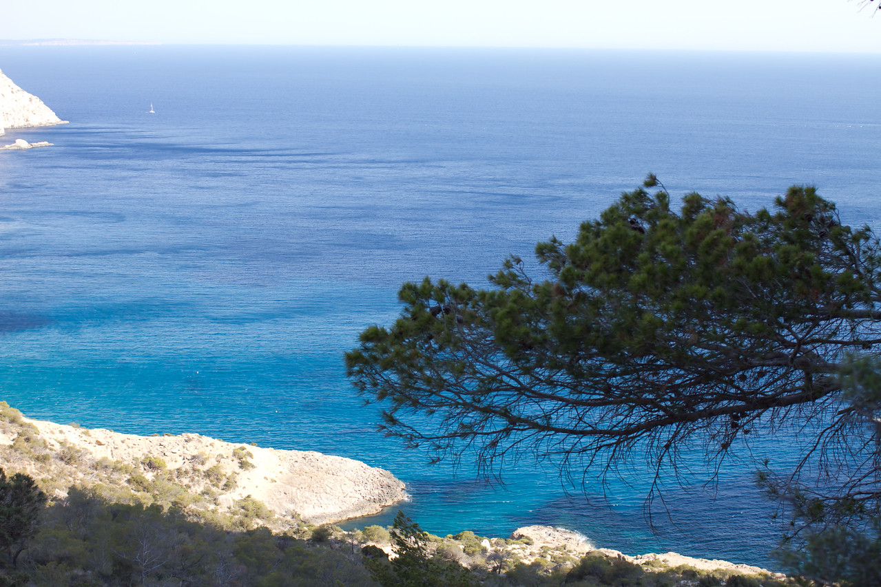 The best climbing view of the Ibiza coast.