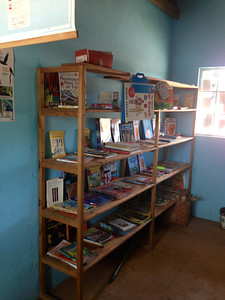 Library at Azura's Rainbow Fund primary school