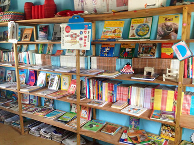 Library at the Azura's Rainbow Fund primary school