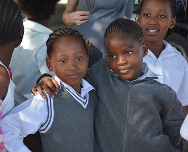 Learners at Nkomo Primary School