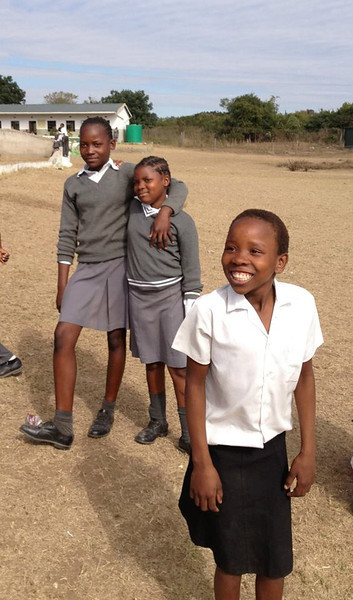 Students at the Nkomo Primary School
