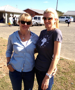 Empowers Africa Trustees Lyn Pedersen and Krista Krieger at the Mduku Health Clinic, a project supported by Africa Foundation