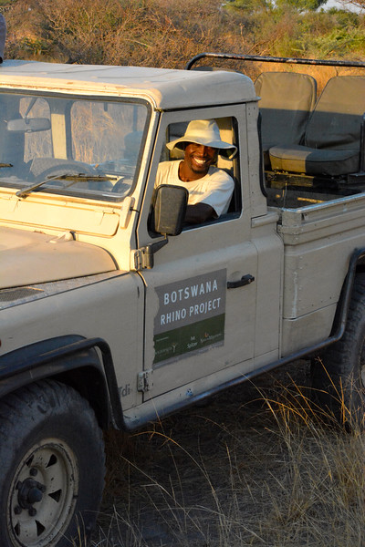 One of the rangers who monitors the black rhinos 24 hours a day, 7 days a week.