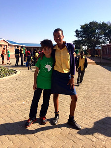 Alexander Judelson and learner at the Khulani Special School