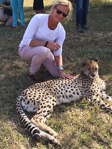 Empowers Africa Trustee Suzanne Ledecker at the Endangered Wild Cats Project
