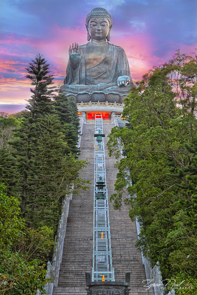 World's largest Buddha statue at Po Lin Monastery, Lantau Island