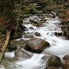 River Cascade in New Hampshire, Franconia Notch State Park