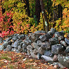 Rock Wall in the fall - New Hampshire