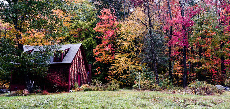 Saturated Fall Colors and Barn