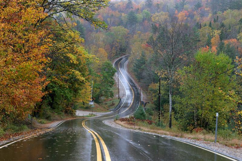 Rainy Road in New Hampshire